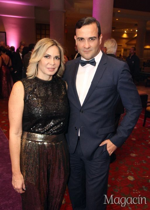 Rosy Ward y Pedro Maldonado. Gala Fundacion De Frente al Alzheimer. Fotografo Jose Rafael Perez Centeno/ ESPECIAL PARA MAGACIN