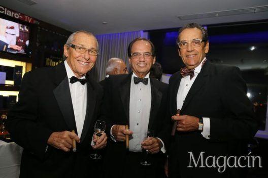 9 de febrero 2017. Habanacuba Cigars, 20 Aniversario. En la foto- Oscar Lepretre, Reinaldo Cruz Taura, Roberto Echevarria. Foto- Nichole Saldarriaga