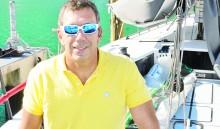 14 de mayo de 2015. San Juan, Puerto Rico. Sergio Sagramoso posa para Magacin en su bote en el Club Nautico de San Juan, en San Juan, Puerto Rico. (Foto por: ENID M. SALGADO-MERCADO) -----