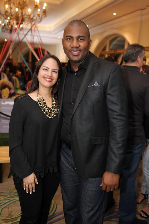 Zuleika Gomez y Dave Rodney. Gala Black and Blue de MDA. Fotografo Jose Rafael Perez Centeno/ ESPECIAL PARA MAGACIN