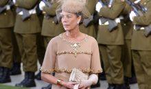 LUXEMBURGO BODA REAL:LUX010 LUXEMBOURG (LUXEMBURGO) 20/10/2012.- La princesa Carolina de Mónaco a su llegada a la Catedral Nôtre-Dame para asistir a la boda religiosa del heredero del Gran Ducado de Luxemburgo, el príncipe Guillermo de Nassau y Borbón de Parma, con la condesa belga Stéphanie de Lannoy hoy, sábado 20 de octubre de 2012 en Luxemburgo. EFE/Christophe Karaba