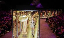 Models wear creations part of the Gucci women's Fall-Winter 2017-18 collection, that was presented in Milan, Italy, Wednesday, Feb. 22, 2017. (AP Photo/Luca Bruno).