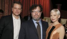 Matt Damon, from left, Kenneth Lonergan and Michelle Williams attend the 89th Academy Awards Nominees Luncheon at The Beverly Hilton Hotel on Monday, Feb. 6, 2017, in Beverly Hills, Calif. (Photo by Danny Moloshok/Invision/AP)
