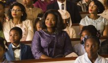 "This image released by Twentieth Century Fox shows Taraji P. Henson, background left, Octavia Spencer, center, and Janelle Monae, background right, in a scene from ""Hidden Figures."" Spencer was nominated for an Oscar for best  supporting actress on Tuesday, Jan. 24, 2017,  for her work in the film. The 89th Academy Awards will take place on Feb. 26.  (Hopper Stone/Twentieth Century Fox via AP)"