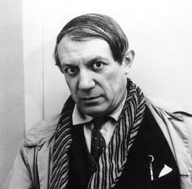 FILE--This is a 1935 black and white photo of Pablo Picasso. The Los Angeles County Museum of Art announced Wednesday, Sept. 2, 1998, an exhibit of the artist's work spanning 70 years and will contain more than 115 paintings, sculptures and drawings. (AP hoto/Rogi-Andre, ho) -----